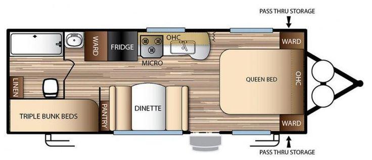 "floor plan of 22'6"" trailer | overland vehicle | pinterest"