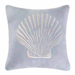 This simple accent pillow is a ideal to any beach-themed bedroom. Combine with any other coastal-themed pieces to create some seaside magic in your home. #coastalbedroom #bedroomdecor #pillows https://www.snowshomeandgarden.com/products/pillow-treas-by-sea-blue-scallop-10510.html