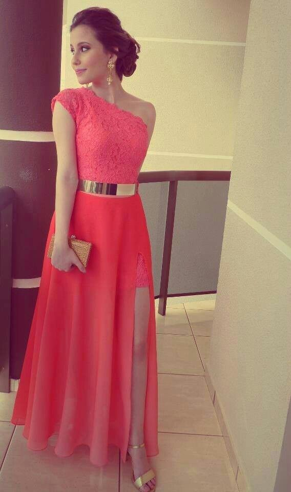 Vestido para formatura...love the color and style