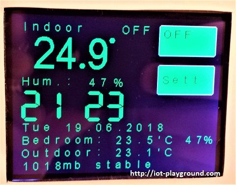 ESP8266 WiFi touch screen thermostat (EasyIoT Coud)