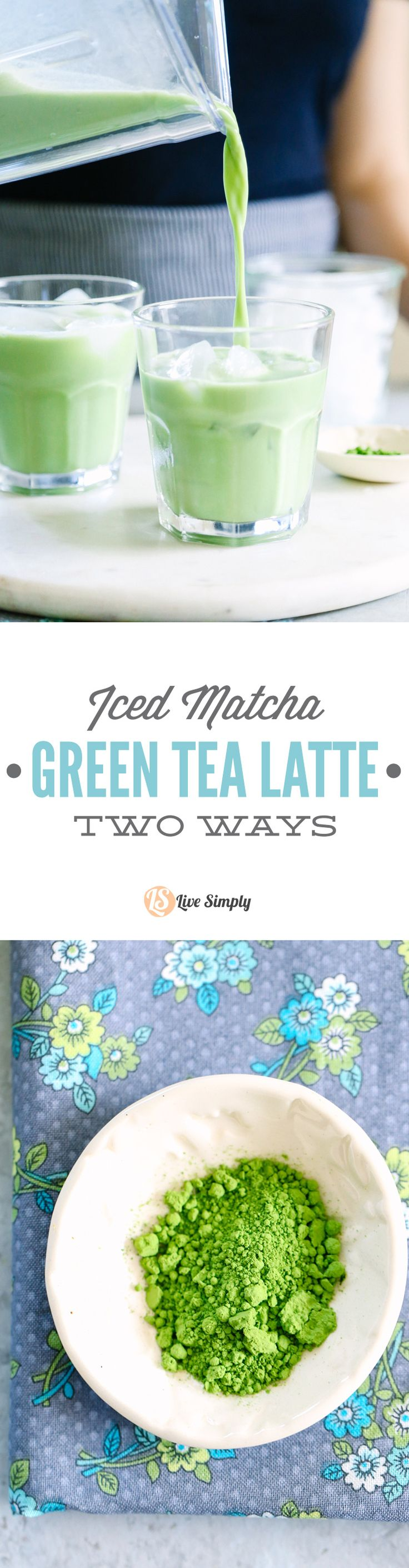 "Yum! I love match drinks, but I hate the coffee shop price. I can't believe how easy it is to make a matcha drink at home. This recipe includes two options: an iced ""latte"" (matcha milk) or a frappucino-style drink."