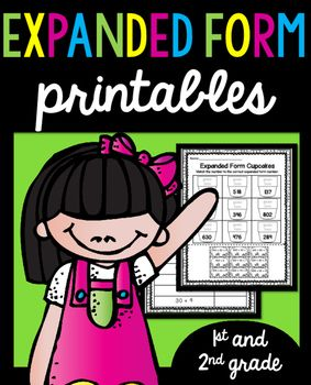 Expanded Form Worksheets, Standard Form and Written Form Printables  (50 Pages)  These printables are included in a BUNDLE set. Along with my place value and fact families printables!