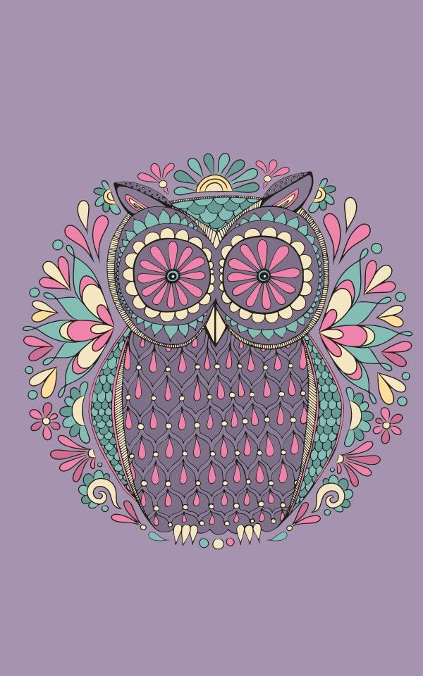 Retro Owl Background.                                                                                                                                                                                 More