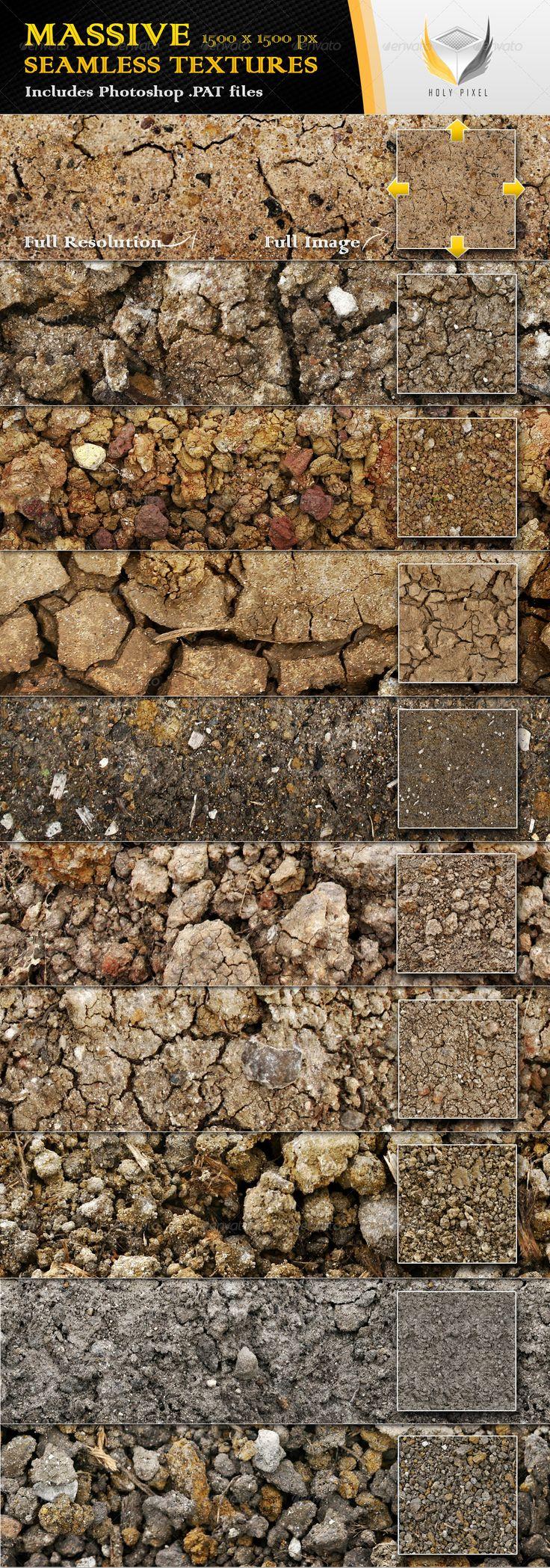 10 Seamless Clay Textures - Nature Textures / Fills / Patterns