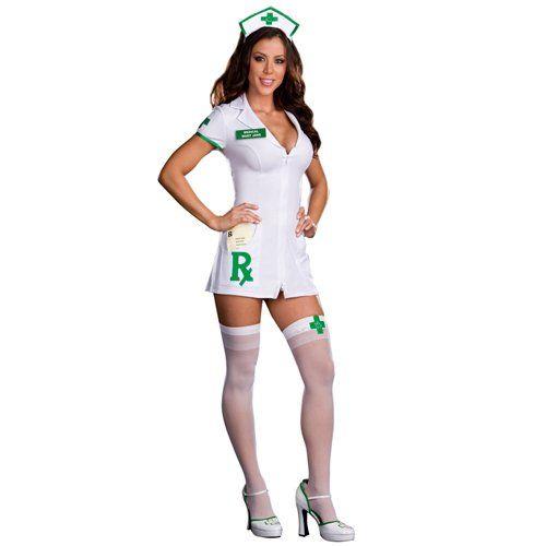 Dreamgirl Medical Mary Jane Nurse Costume White Large