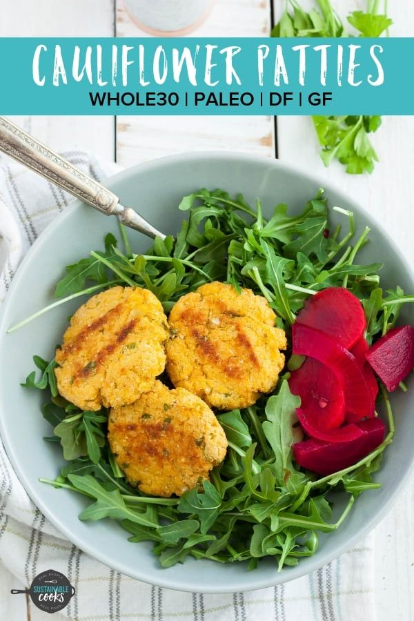 Healthy Crispy And Delicious These Baked Cauliflower Patties