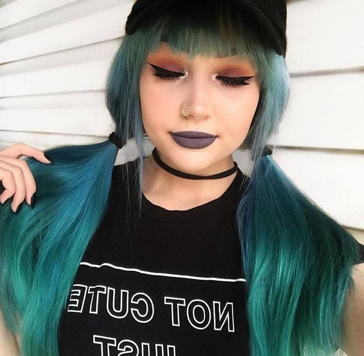 """1,869 Likes, 4 Comments - Beserk (@beserk) on Instagram: """"@emma8bit looking lovely with her Phantom Green + Transylvania faded hair by Arctic FoxShop…"""""""
