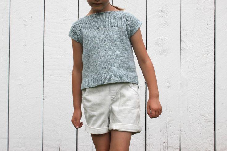 SweetKM: NEW! Passing Showers Tee Knitting Pattern