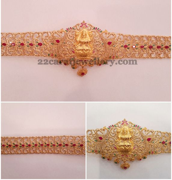 Jewellery Designs: Light Weight Uncut Vaddanam