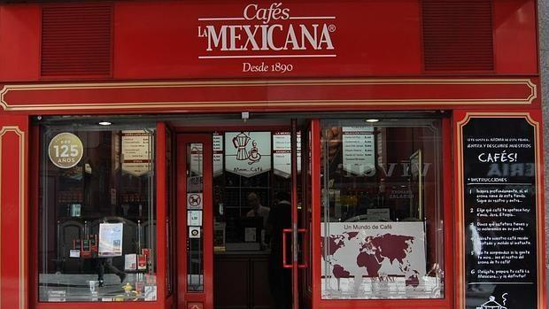 Tienda de Cafés La Mexicana en la calle Preciados de Madrid