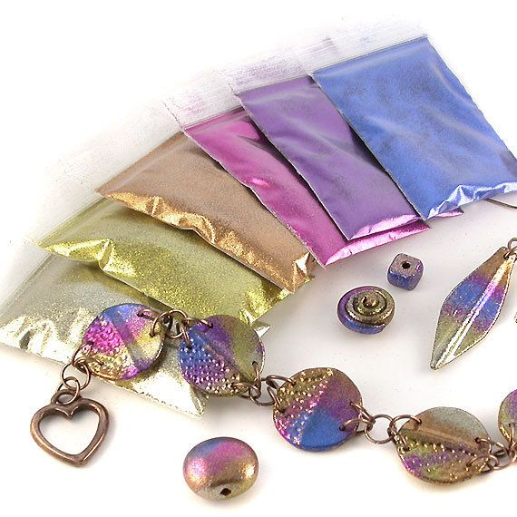 Ultrafine Glitter Kit for Polymer Clay Paper Crafts by ejrbeads......nail art