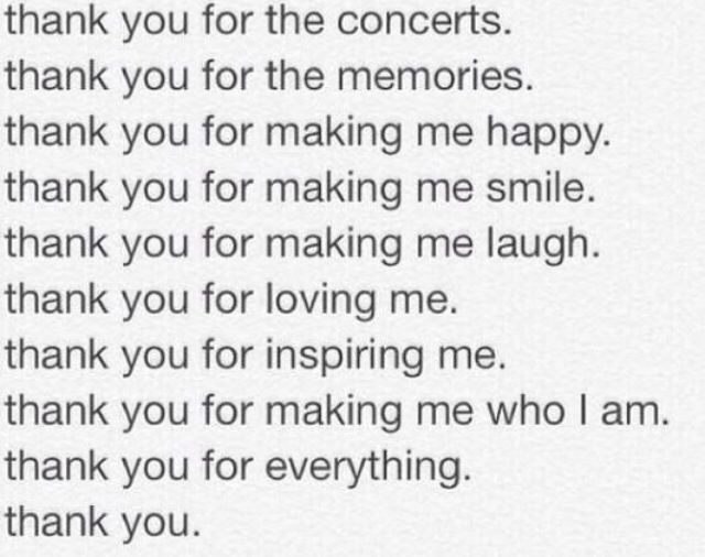 To All My Favorite Bands: Thnks fr th mmrs. (Not even sorry for that reference.)