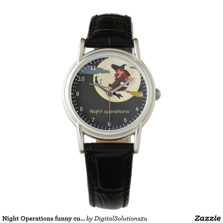 Night Operations funny customizable Wristwatch