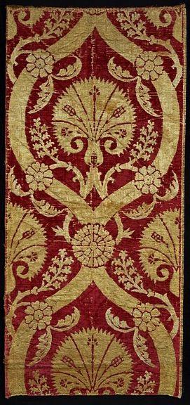 Velvet furnishing fabric, Bursa, Turkey, 16th cen.
