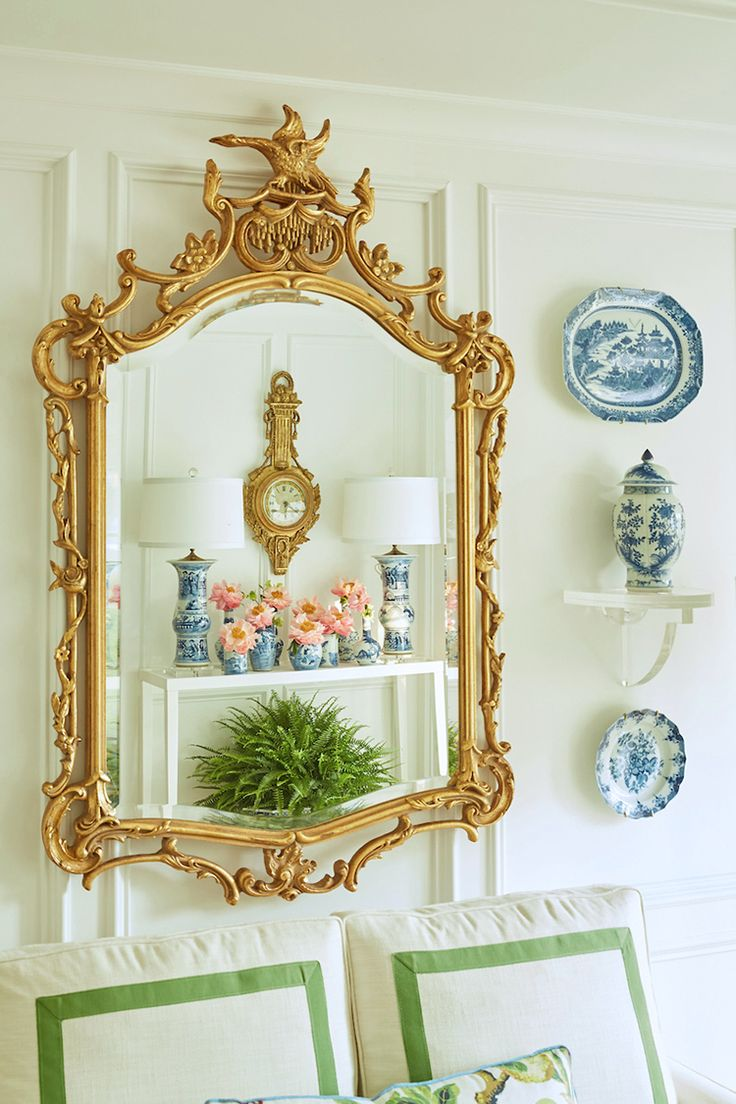 Best 25 beach style mirrors ideas on pinterest beach style wall spring 2017 one room challenge living room dining room reveal the pink pagoda amipublicfo Choice Image
