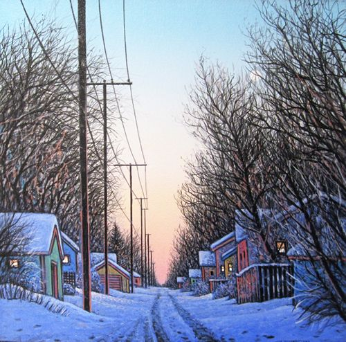 Well Lit, acrylic and canvas by Wilf Perreault