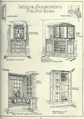 "Laurelhurst Craftsman Bungalow: Bedroom Built-Ins  and the website has custom ""craftsman-style"" houses...neat"