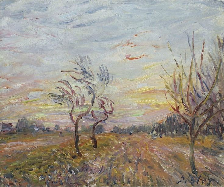 An Orchard in the Outskirts of Moret-sur-Loing, 1890