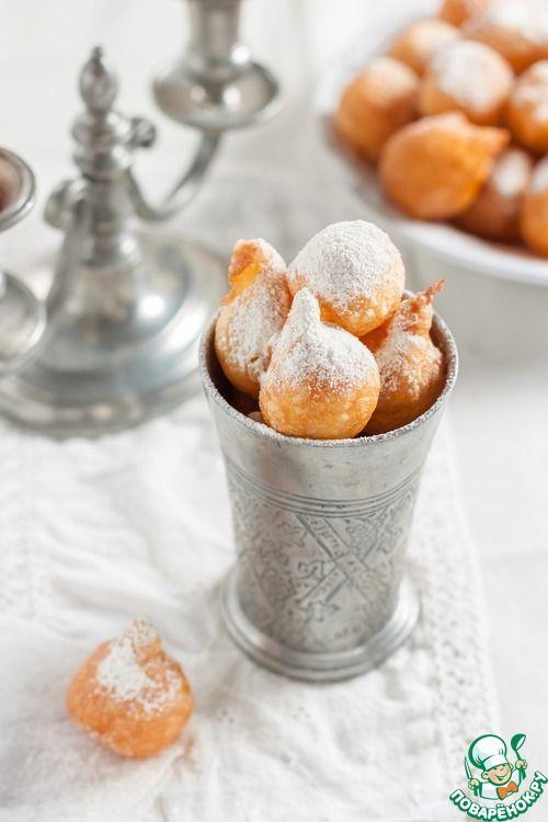 """Французские заварные пончики """"Пе-де-нонн"""" Источник: http://www.povarenok.ru/recipes/show/115198/"""