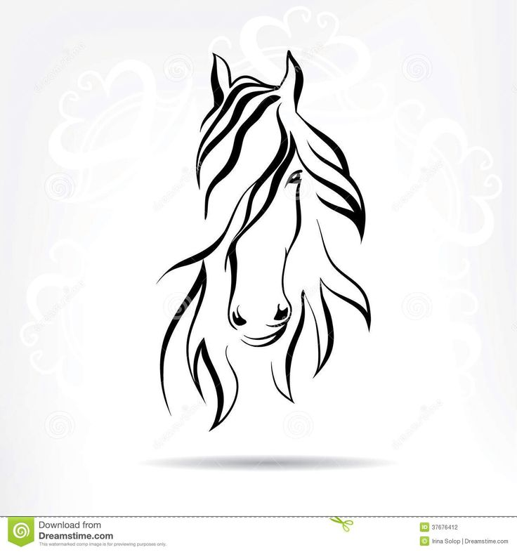 Horse head - to layer on top of silhouette