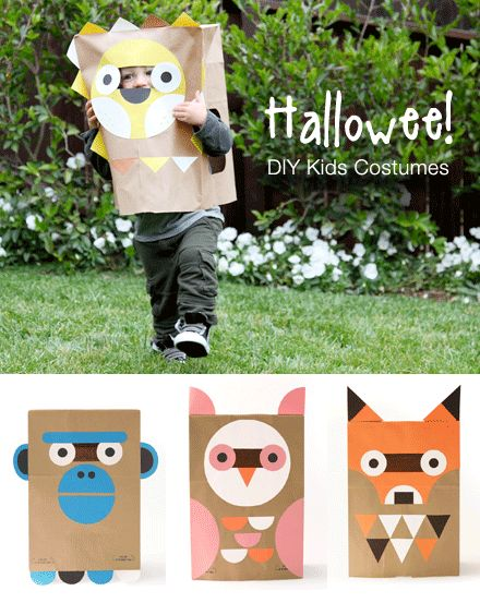MollyMoo's second Halloween Round-Up: DIY Costumes - including Wee Society paper bag masks, skeleton costumes, lego minifigs, bat wings, flapping bat hats, upcycled batman costume and lovely ladybugs..... http://mollymoo.ie/2012/10/diy-halloween-costumes/