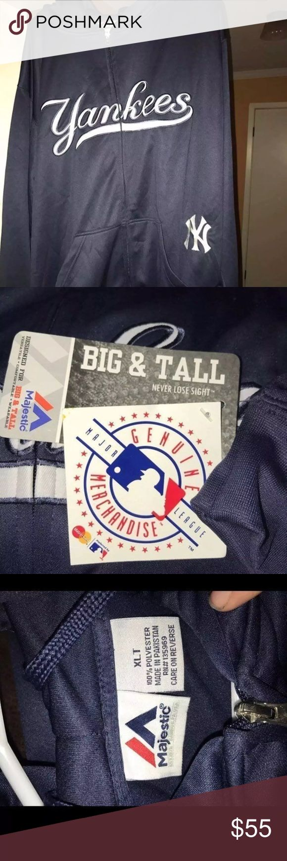 NY Yankees Big & Tall Jacket Brand new with tags NY Yankees jacket. Size XLT (extra large tall) smoke free home Fast shipping   Check out our other items! Majestic Jackets & Coats Performance Jackets