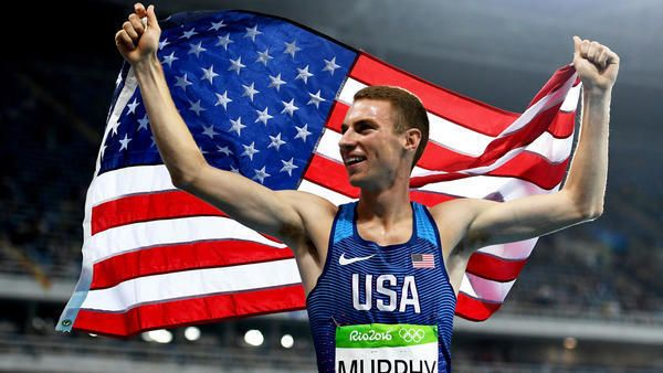 American Clayton Murphy celebrates after winning the bronze medal in the men's 800 meters on Monday. (Shaun Botterill / Getty Images) Middle-distance runner David Rudisha won gold — but didn't get a world record this time — while American Clayton Murphy set a personal best to earn the bronze.