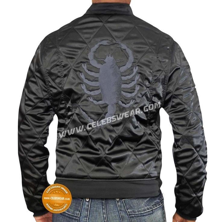 Ryan Gosling Scorpion Drive Black Jacket