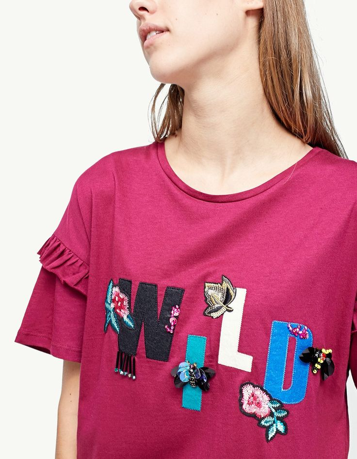 At Stradivarius you'll find 1 T-shirt with jewel appliqués for just 92233720368547758.07 - 0 Other Countries . Visit now to discover this and more T-shirts.