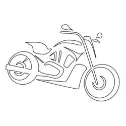 Motorcycle Icon Vector Illustration Zeichnung Illustration Motorrad