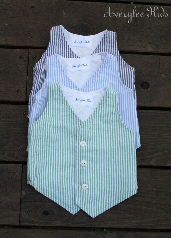 Boys Vest Seersucker Vest for Boys. Easter Outfit, Ring Bearer Outfit, Baptism Suit, Baby Boy Suit by AveryleeKids on Etsy https://www.etsy.com/listing/180725515/boys-vest-seersucker-vest-for-boys
