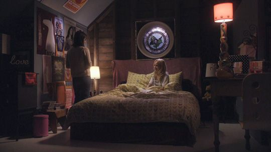 Lux Cassidy's room in Life Unexpected. If I ever lived in an attic, I would want it to look exactly like this.