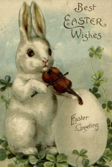 Easter Bunny Vintage Postcard
