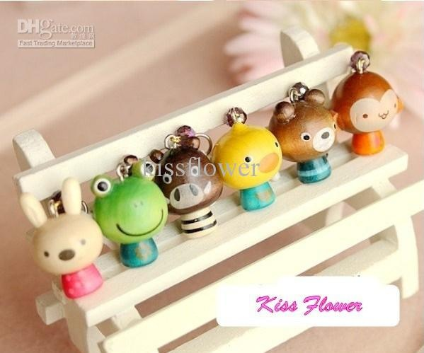 Wholesale New 3.5mm wooden kawaii Animal face series dust plug ear cap for iphone 4,4s 24Pcs/lot, Free shipping, $0.91-1.07/Piece | DHgate