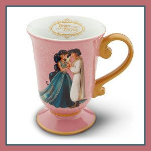 Jasmine and Aladdin Disney Ceramic Mugs.