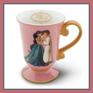Jasmine and Aladdin Disney Ceramic Mugs.