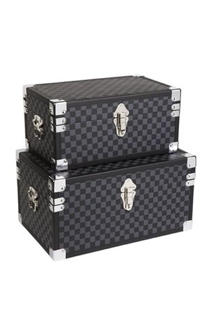 Steamer Trunk Black/Grey- Set of 2want them now