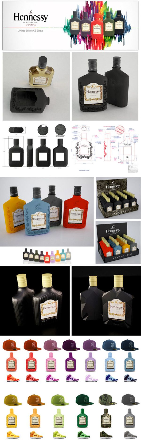 Hennessy very special flask colors your world #packaging PD