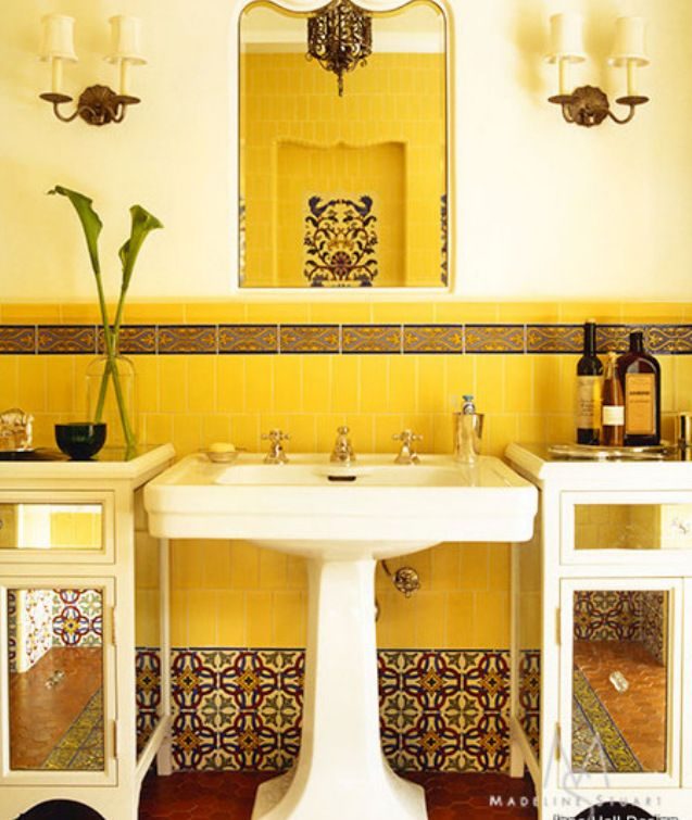Yellow Tile Bathroom Decorating Ideas 137 best bathroom decorating ideas images on pinterest | room