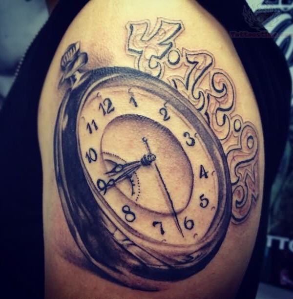 Clock Tattoo On Men Left Shoulder - 40 Awesome Watch Tattoo Designs  <3 <3