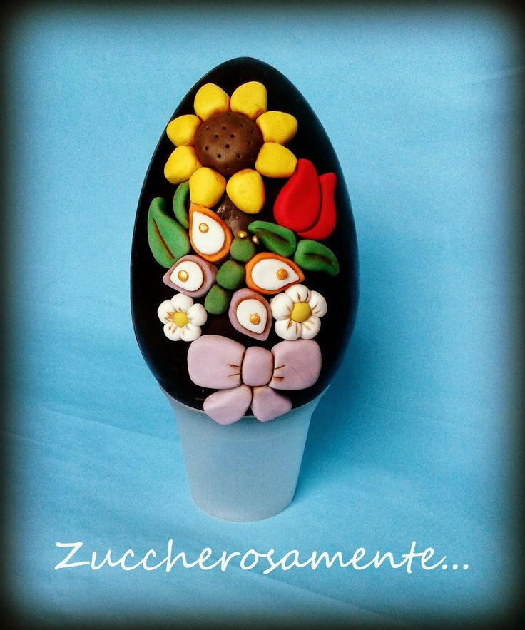 Zuccherosamente...: Uovo di Pasqua decorato stile thun