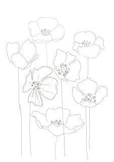Bobbie print: Floral drawings