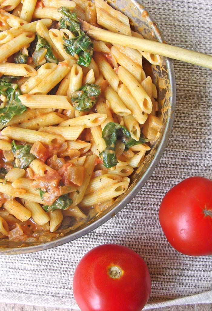 ...a thick, as far as pasta dishes go, hearty meal packed with flavor, perfect for a cold winter day.