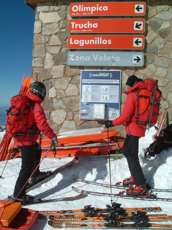 NEW-ORTOVOX Checkpoint at the mount Veleta in Spain