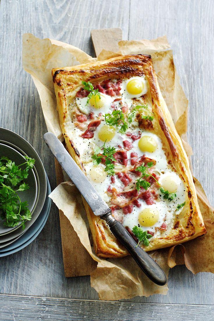 tarte aux oeufs et bacon