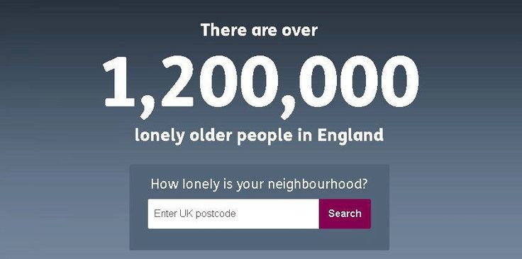 There are over 1,200,000 lonely older people in England. Age UK estimates about 450,000 of these will be spending Christmas alone. Take time out from your day to look in on a neighbour, in person or by phone. #25DaysOfLove  http://www.ageuk.org.uk/no-one/#lookup