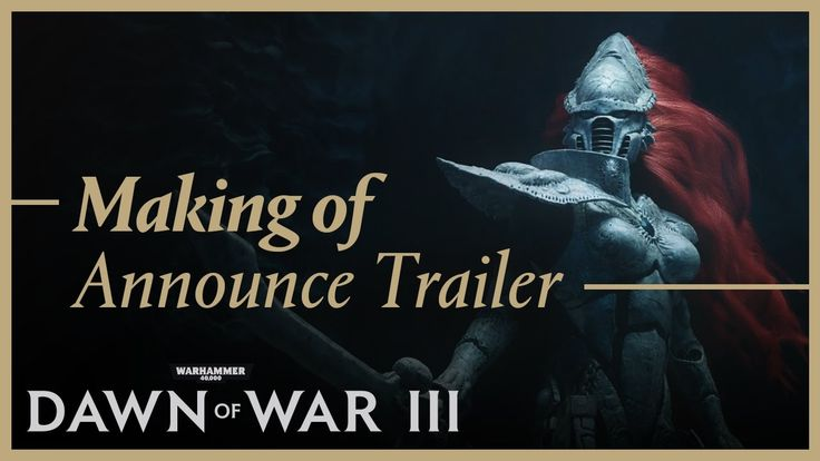 Dawn of War III - Making The Announcement Trailer - YouTube | Almost year has passed since we revealed the coming of Dawn of War III with a haunting announcement trailer. As we gear up towards the release of the game on Thursday, we're taking a moment to look back.   Hear from the team who created this cinematic feast with a behind the scenes look at how it was done and the philosophy behind the production. #Gaming #VideoGames #PCGames #GameArt #VideoGamesArt #GamesArt #Warhammer40k…