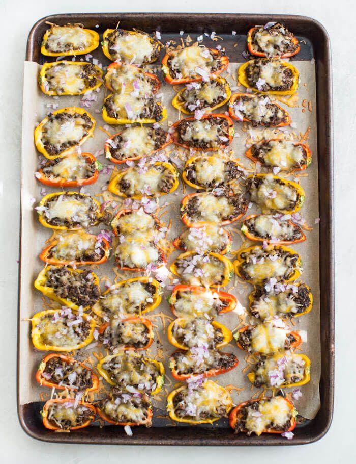 mini bell pepper nachos plant based mushroom loaded nachos recipe stuffed peppers stuffed bell peppers stuffed mushrooms pinterest