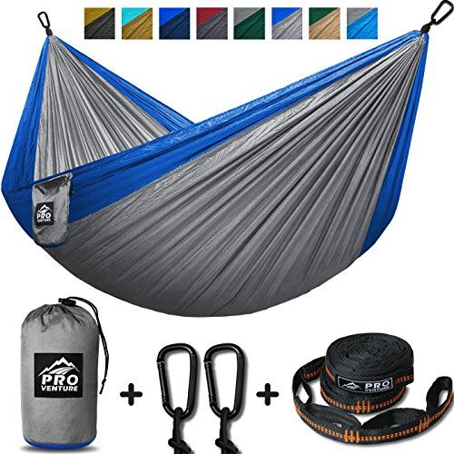Double Camping Hammock - XL Hammocks, FREE Premium Straps & Carabiners - Lightweight + Compact Parachute Nylon - Backpacker Approved and Ready for Adventure! 400LB - 10.5ft x 6.5ft. For product & price info go to:  https://all4hiking.com/products/double-camping-hammock-xl-hammocks-free-premium-straps-carabiners-lightweight-compact-parachute-nylon-backpacker-approved-and-ready-for-adventure-400lb-10-5ft-x-6-5ft/
