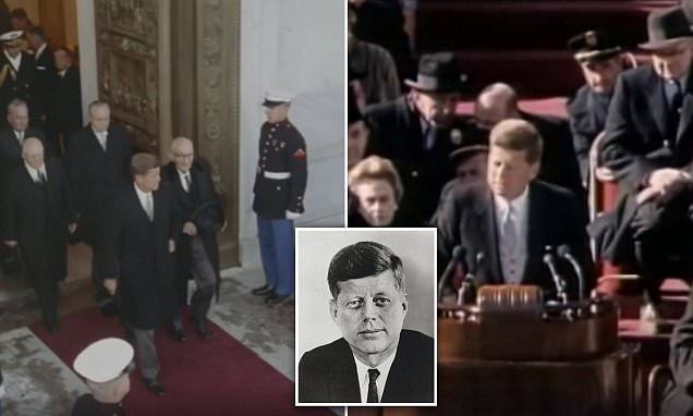 Incredible colorized footage shows Kennedy's inauguration speech
